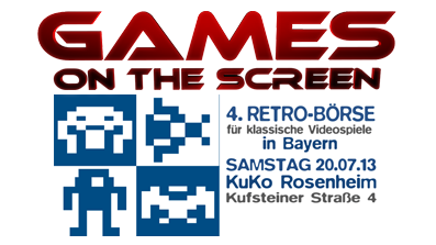Retrobörse in Rosenheim 20.07.2013 – Games on the Screen