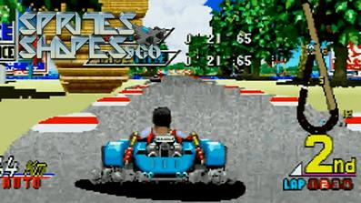 Sprites, Shapes & Co #30: 32-Bit Bitmap Arcade Racer für Sega Saturn