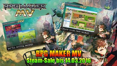 RPG Maker MV günstiger mit Gewinnspiel