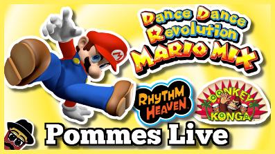 Rhythm Paradise, Donkey Konga, Dancing Stage Mario Mix | Pommes Live 14.7.2018